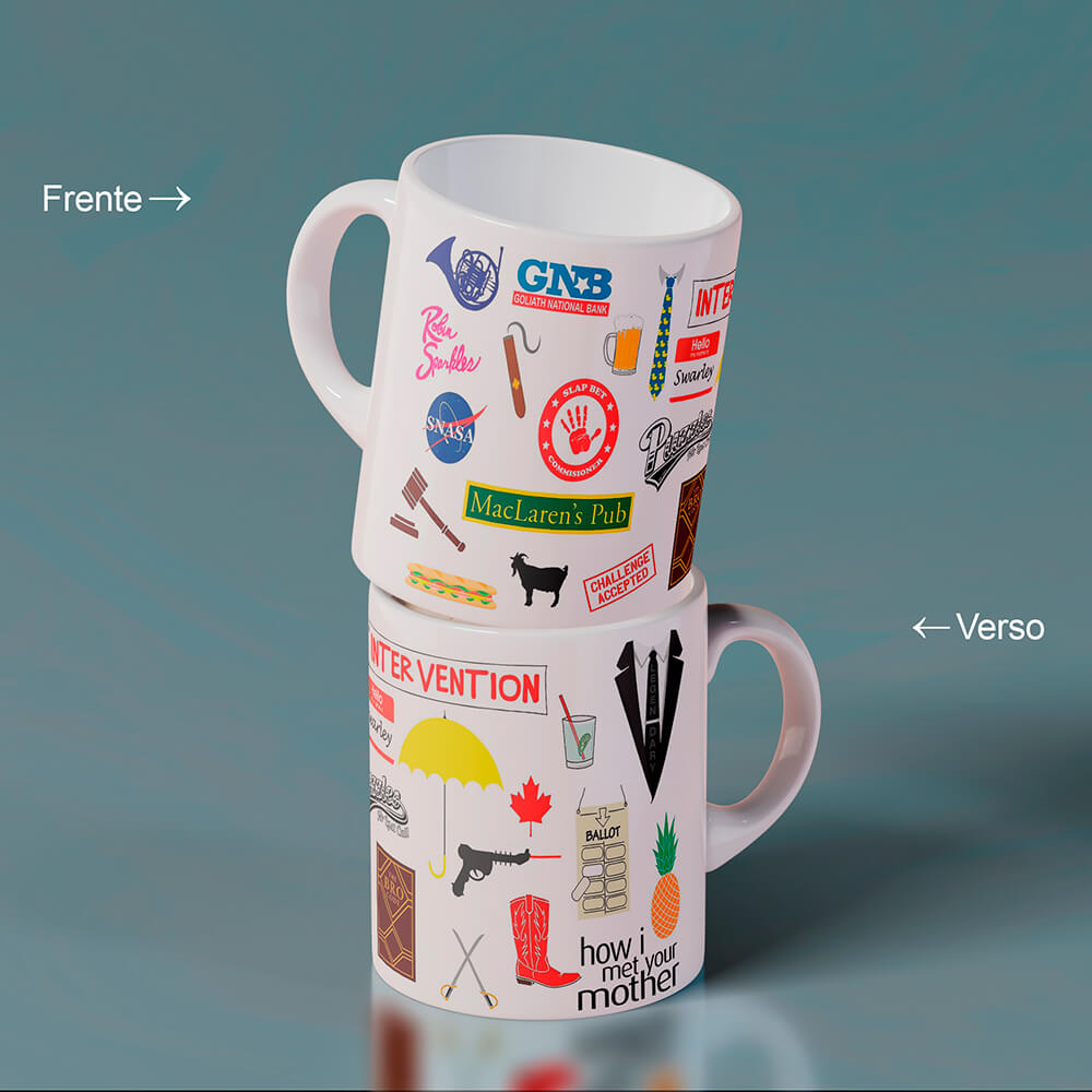 Caneca Referencias How I Met Your Mother