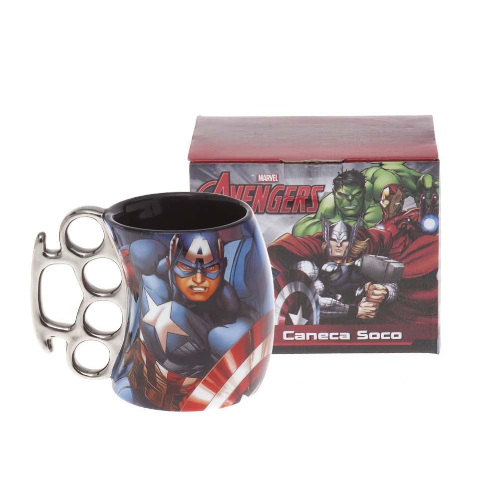 Caneca Soco Inglês Capitão América Oficial Marvel