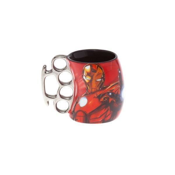 Caneca Soco Inglês Homem De Ferro Marvel Avengers 350ml