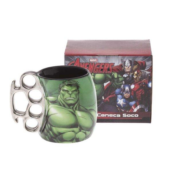 Caneca Soco Inglês Hulk Marvel Avengers 350ml