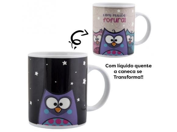 Caneca Termossensivel Corujinha