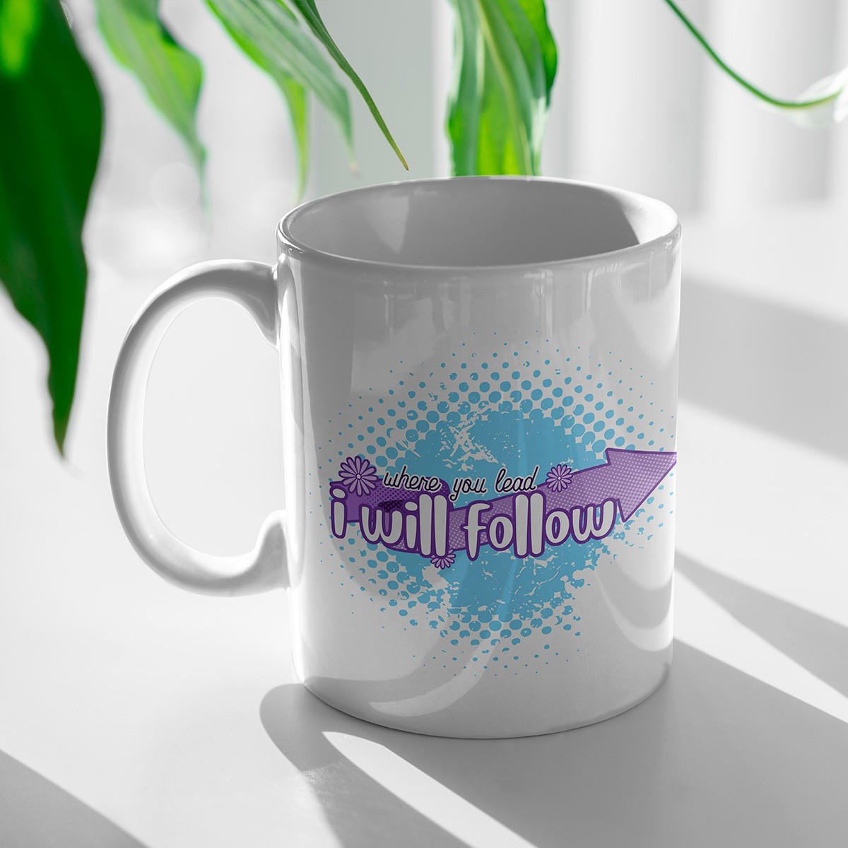 Caneca Were you Lead i Will Follow