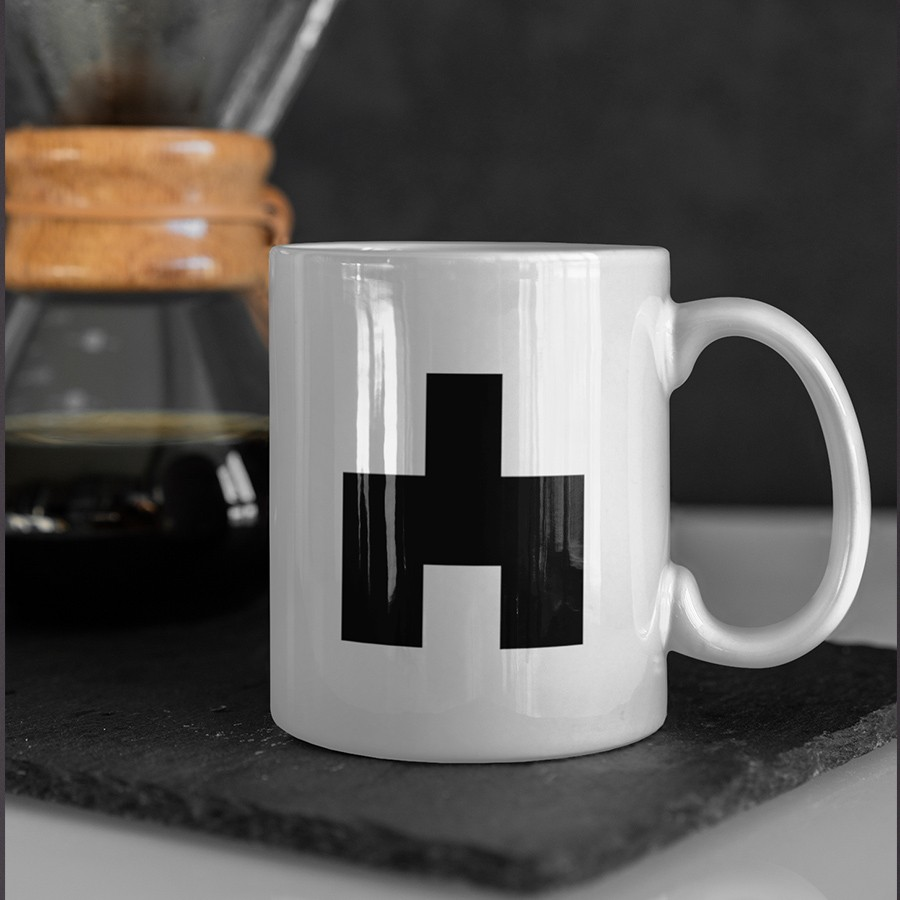 Caneca White Bear Black Mirror