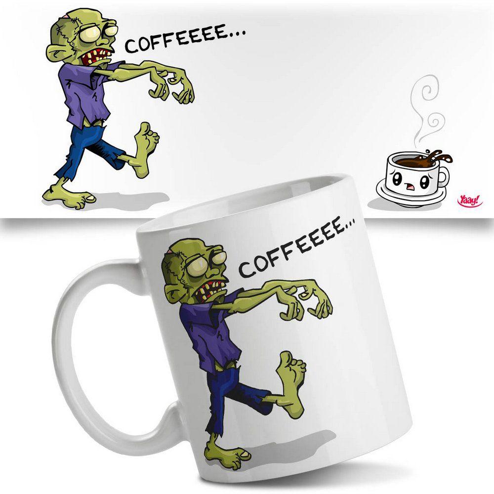 Caneca Zumbi Preciso de Café