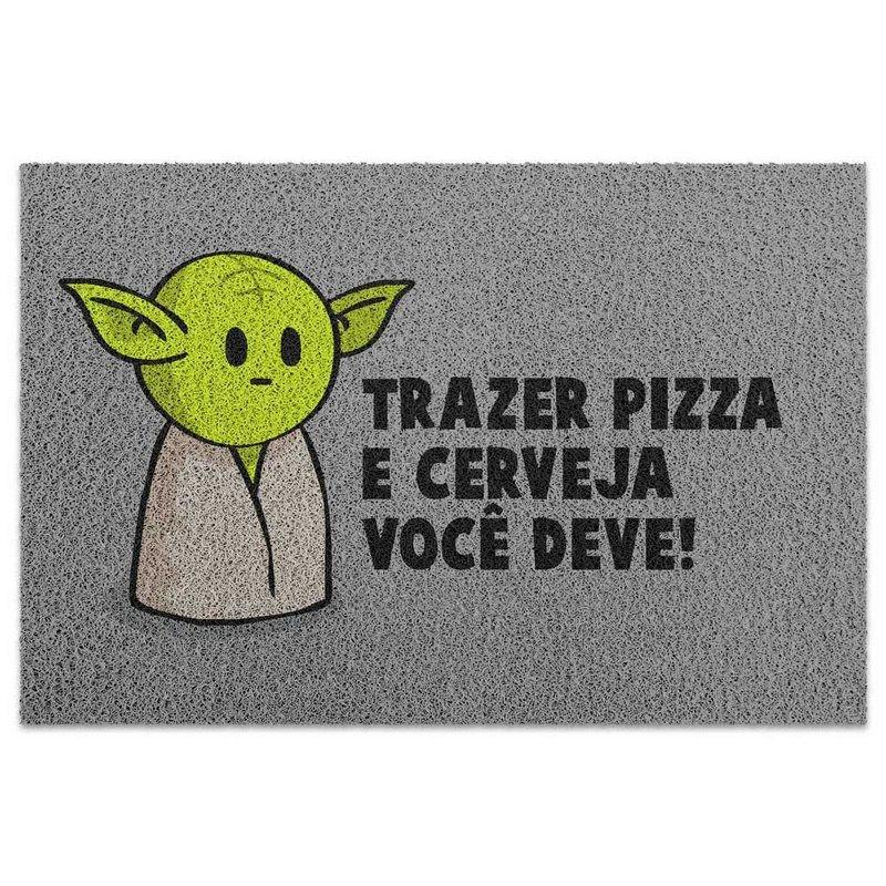 Capacho Mestre Yoda Pizza e Cerveja Star Wars