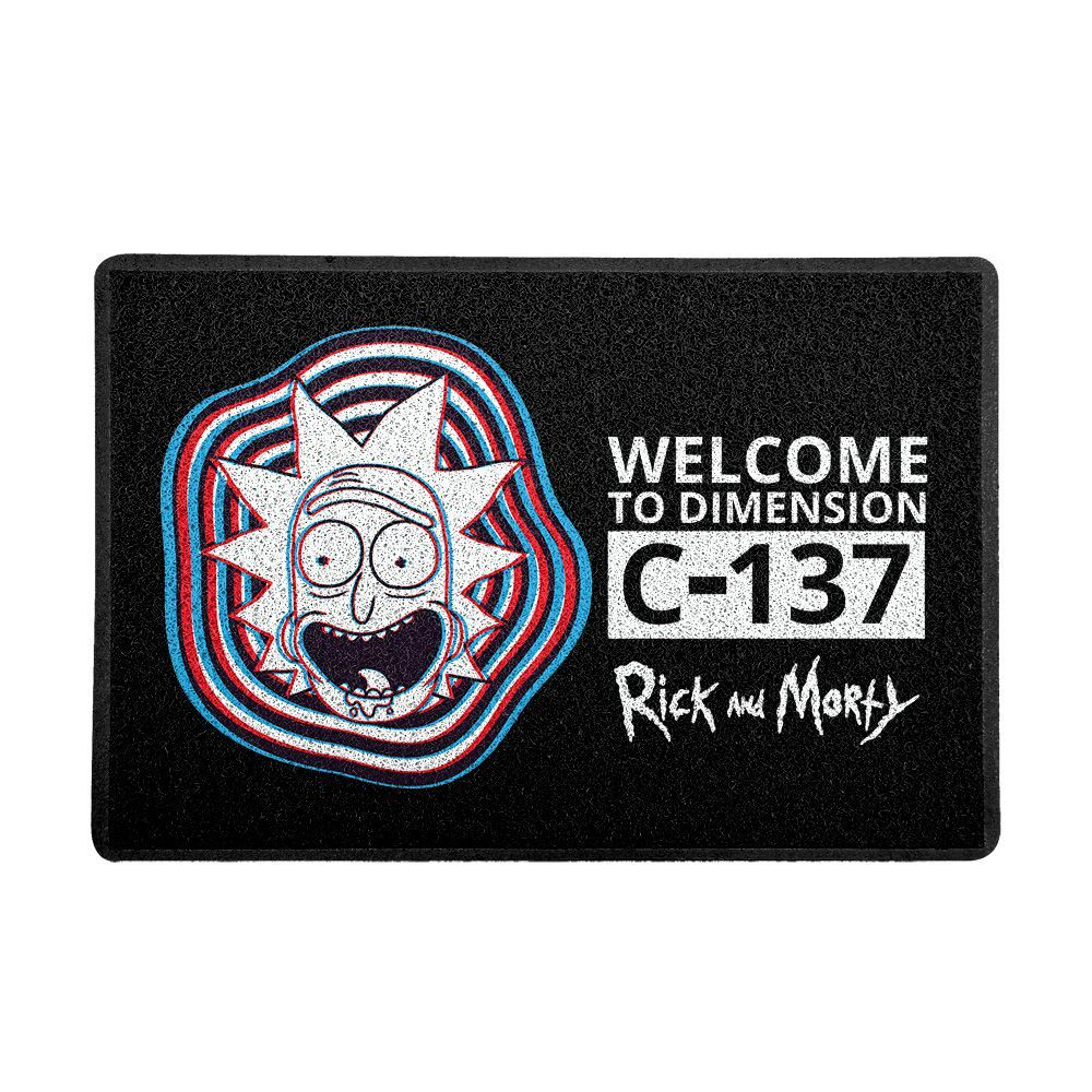 Capacho Em Vinil Rick and Morty C-137