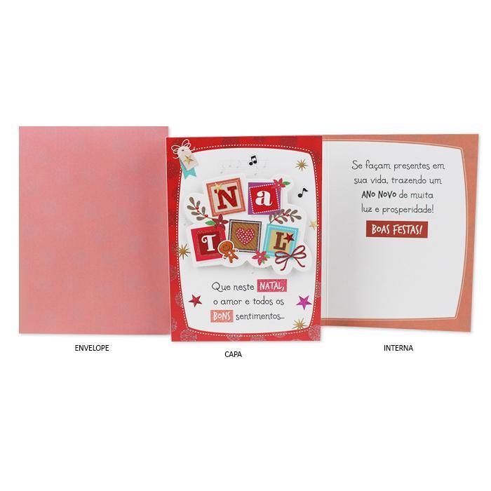 Cartão de Presente Ocasião Natal Quadrados