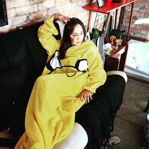 Cobertor Com Mangas Jake Oficial Hora de Aventura