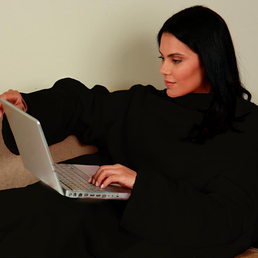Cobertor com Mangas Preto