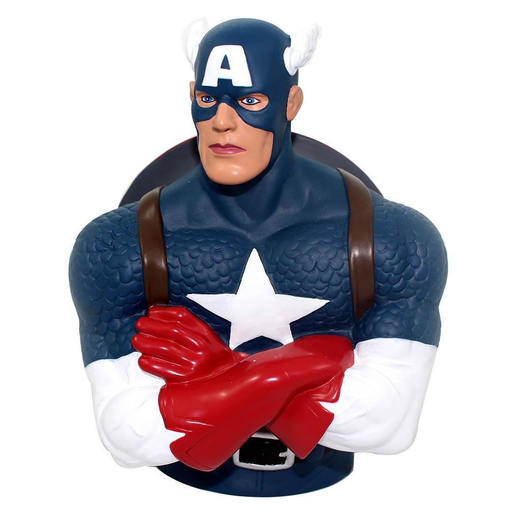 Cofre Cofrinho Busto Capitão América