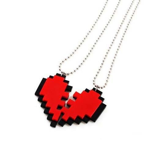 Colar Nosso Coração Pixel