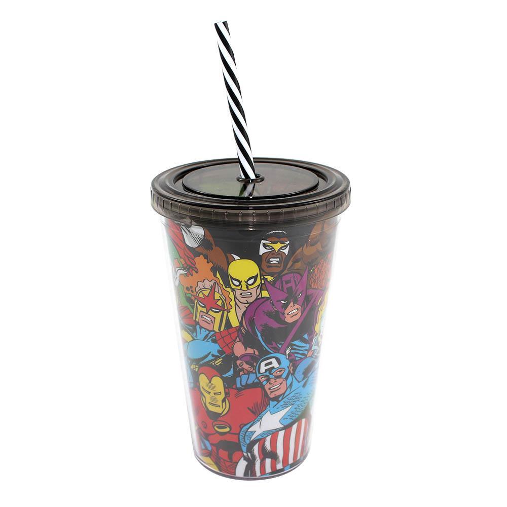 Copo Canudo Heróis Marvel