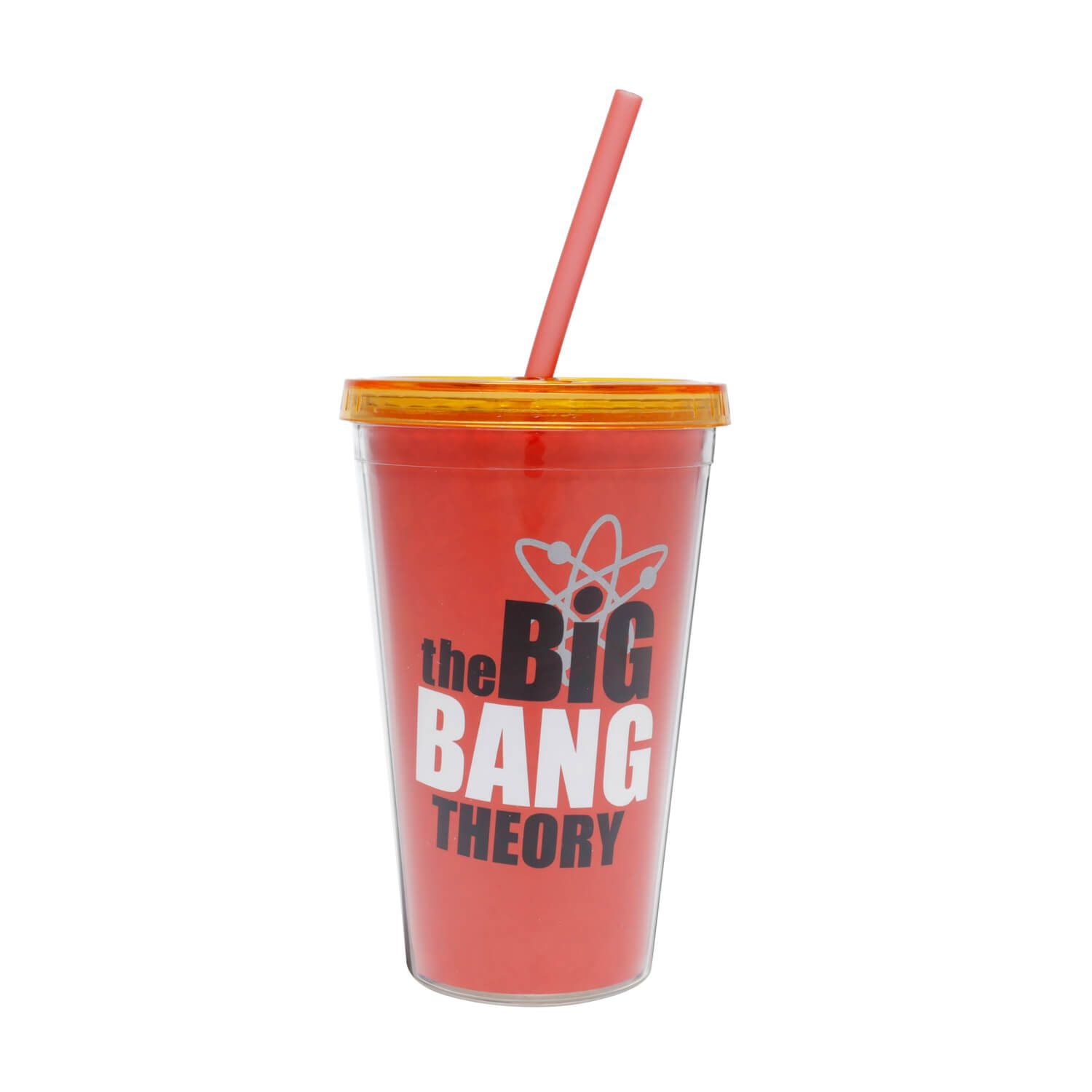 Copo Canudo Plástico Bazinga The Big Bang Theory 500ml