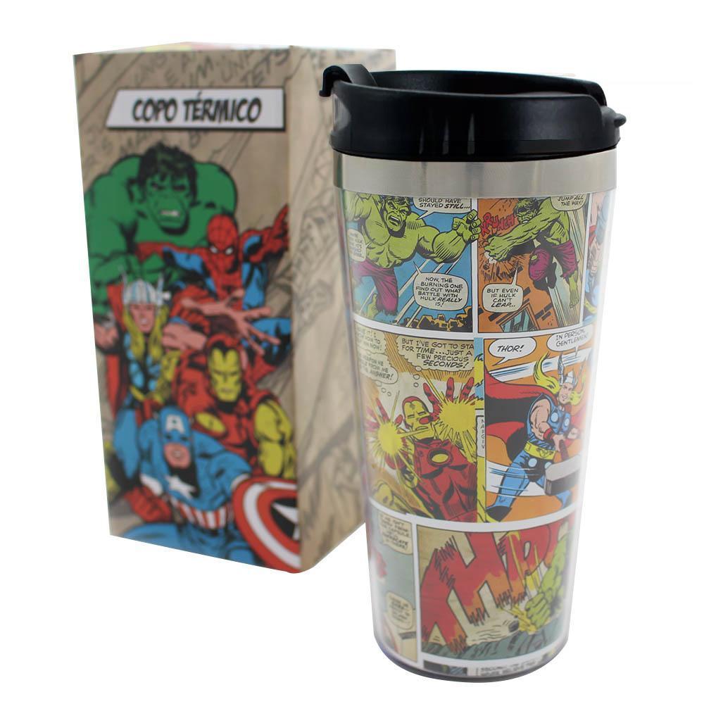 Copo Termico Marvel HQ