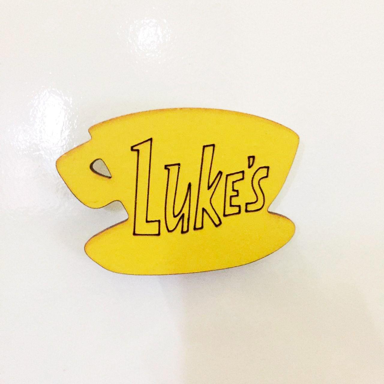 Imã de Geladeira Placa do café do Luke