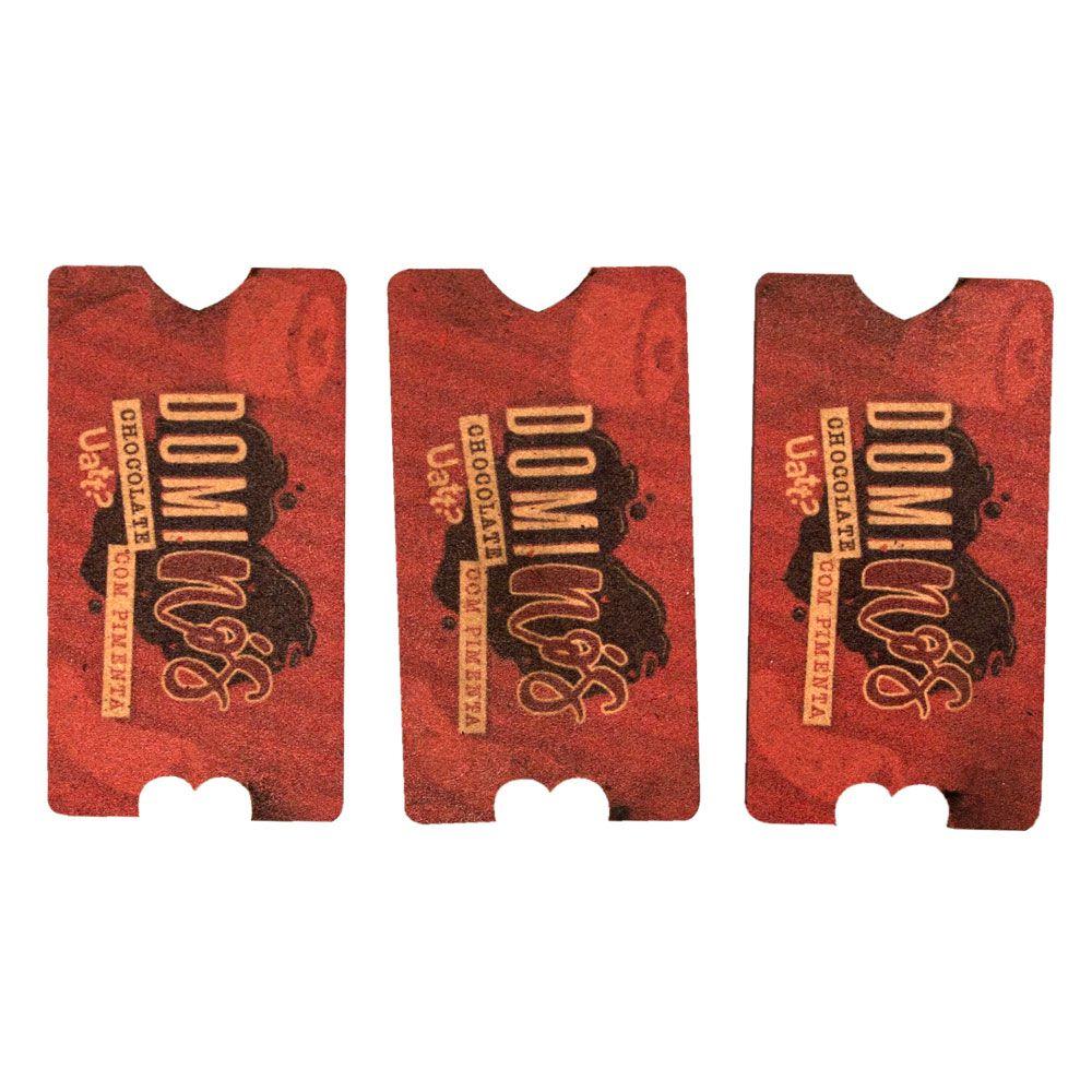 Jogo dominós chocolate com pimenta Namorados