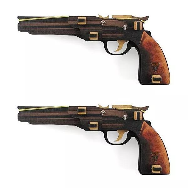 Kit 2 Arminhas Pistolas De Elástico Montável Hopper Policia