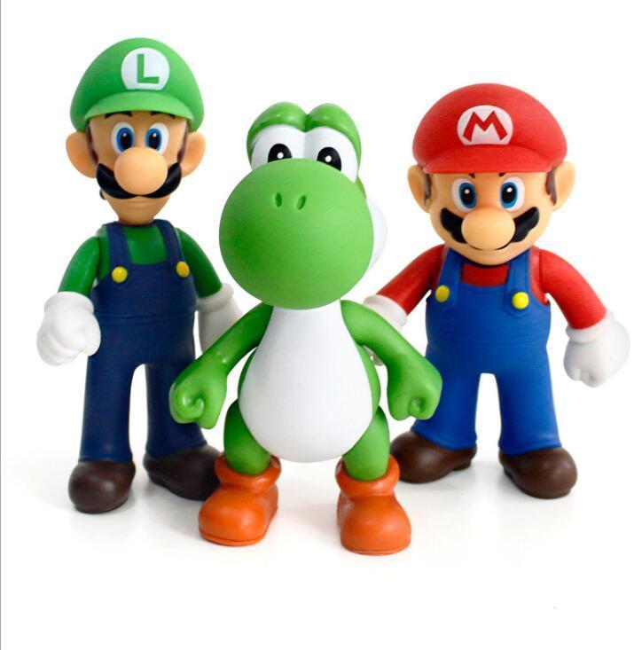 Kit 3 Bonecos Super Mario Bros Collection Caixa