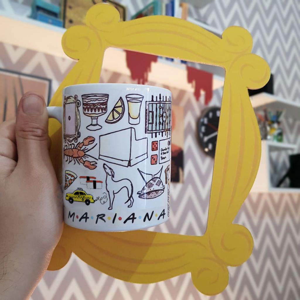 Kit Caneca  + Moldura Personalizado com seu Nome
