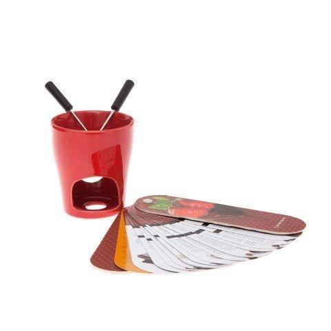 Kit Fondue 2 Garfos + 1 Caneca + 1 Livro Zona Criativa