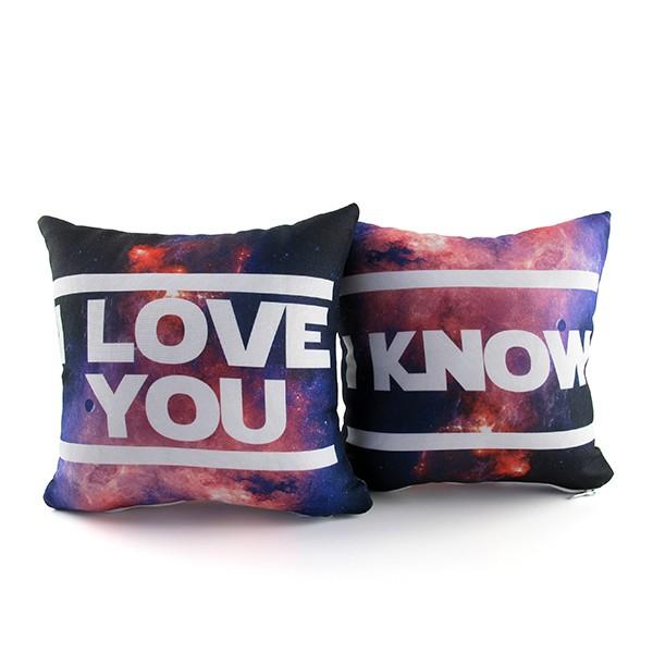 Kit Mini Almofadas I Love You - I Know Star Wars