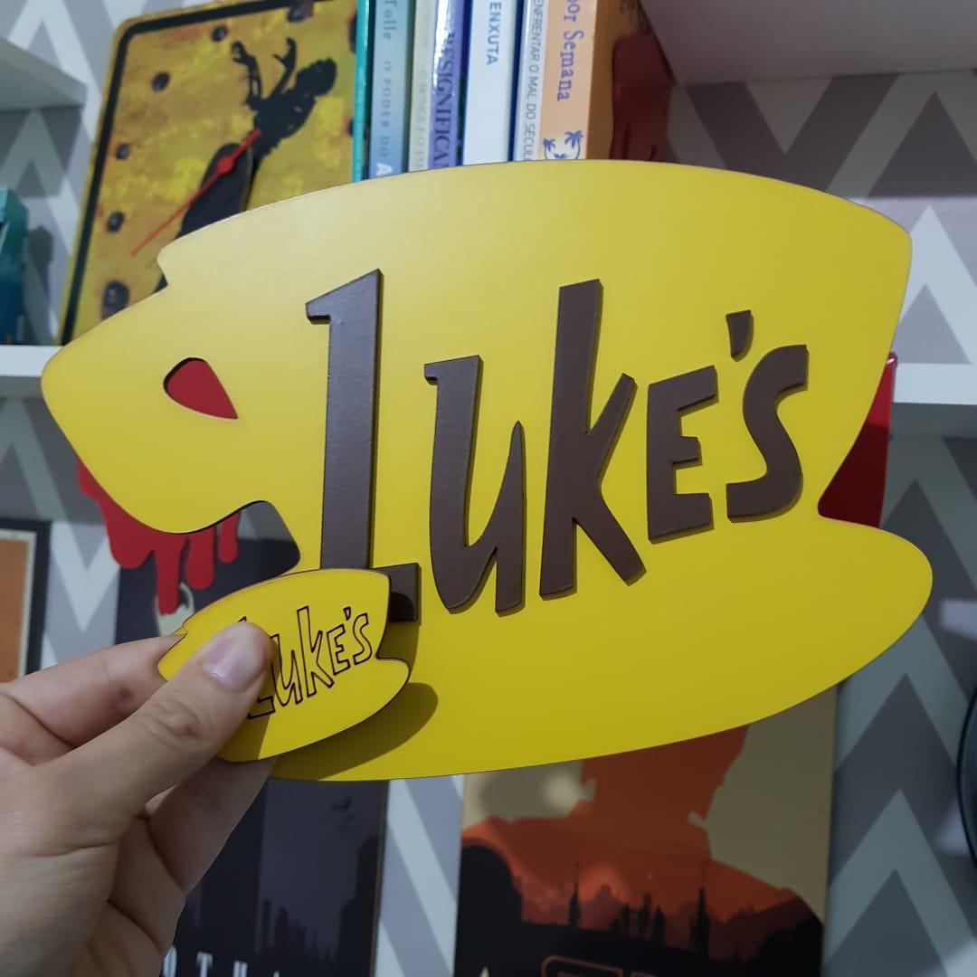 Kit Placa Decorativa Quadro Lukes Bar + Imã Luke