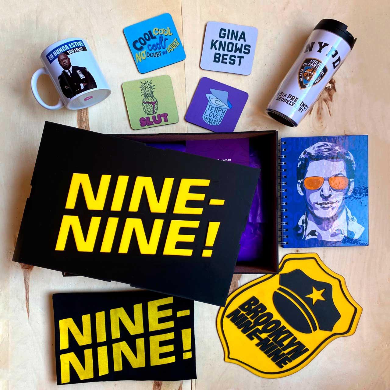 Kit Super Fã Brooklyn Nine Nine + Box Temática EDIÇÃO LIMITADA
