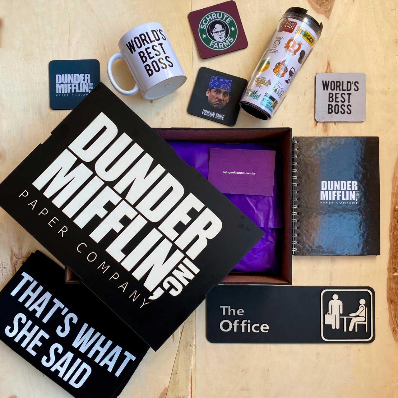 Kit Super Fã The Office + Box Temática EDIÇÃO LIMITADA
