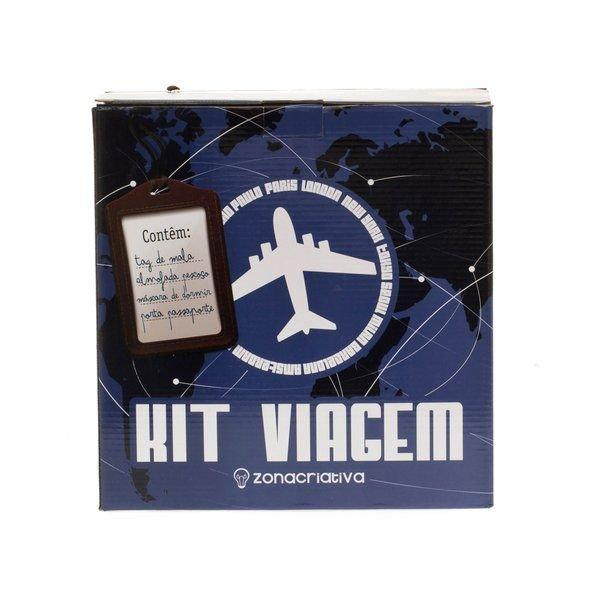 Kit Viagem passaporte almofada pescoço