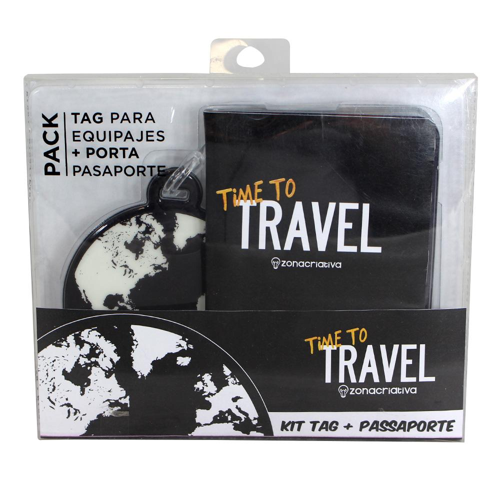 Kit Viagem Time to Travel Porta Passaporte