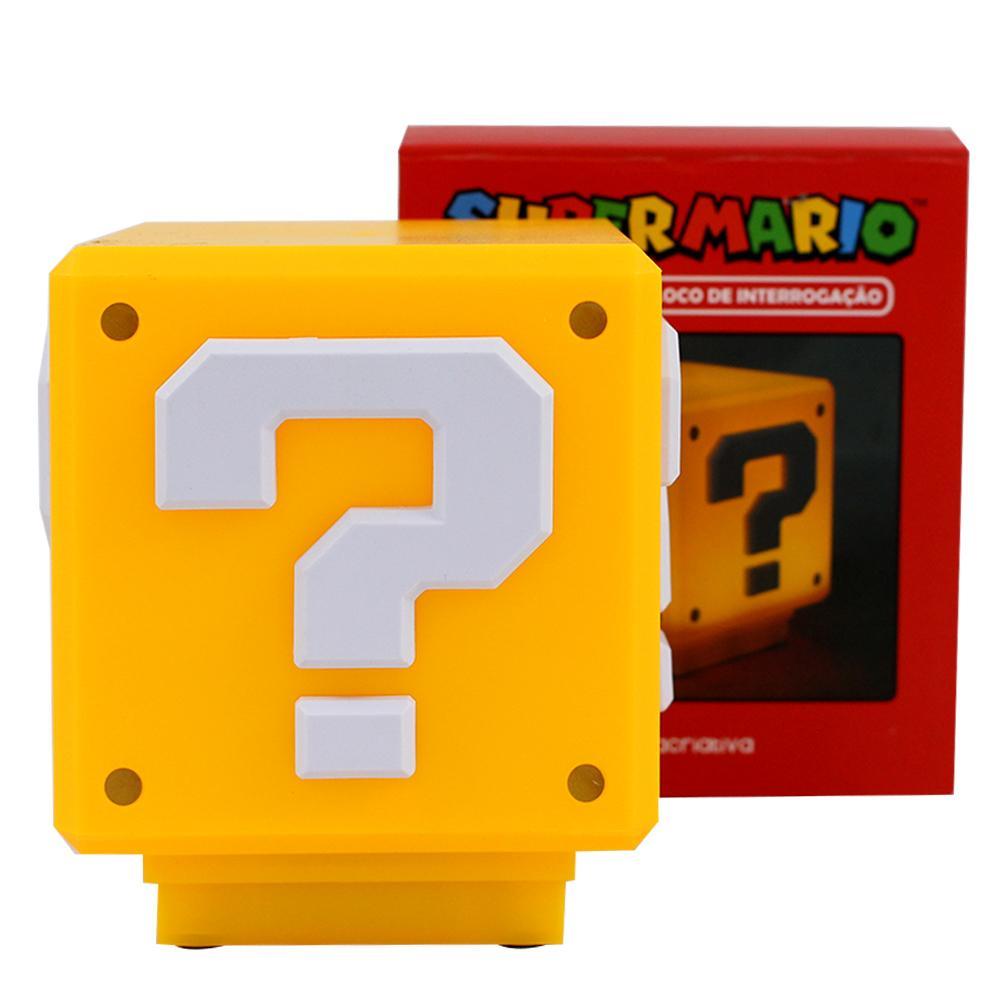 Luminária Bloco Super Mario Cubo