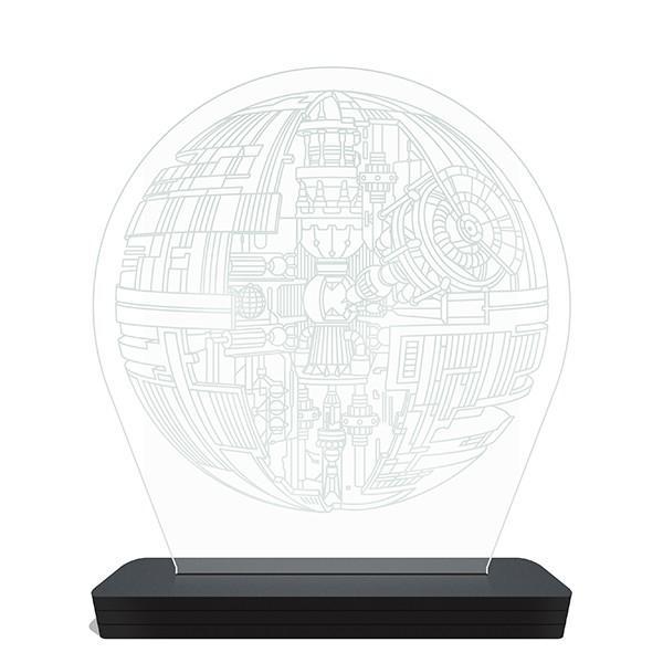 Luminária de LED Estrela da Morte Star Wars