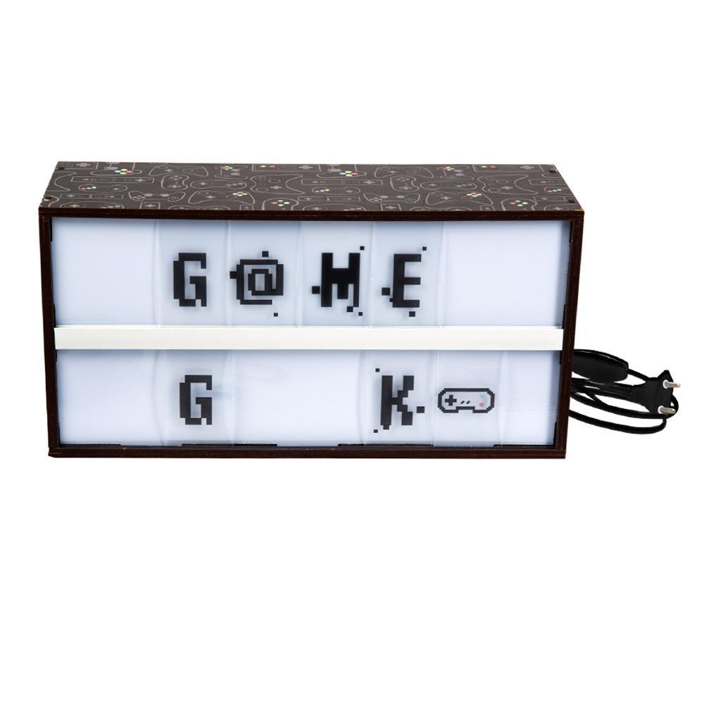 Luminária Letreiro Game