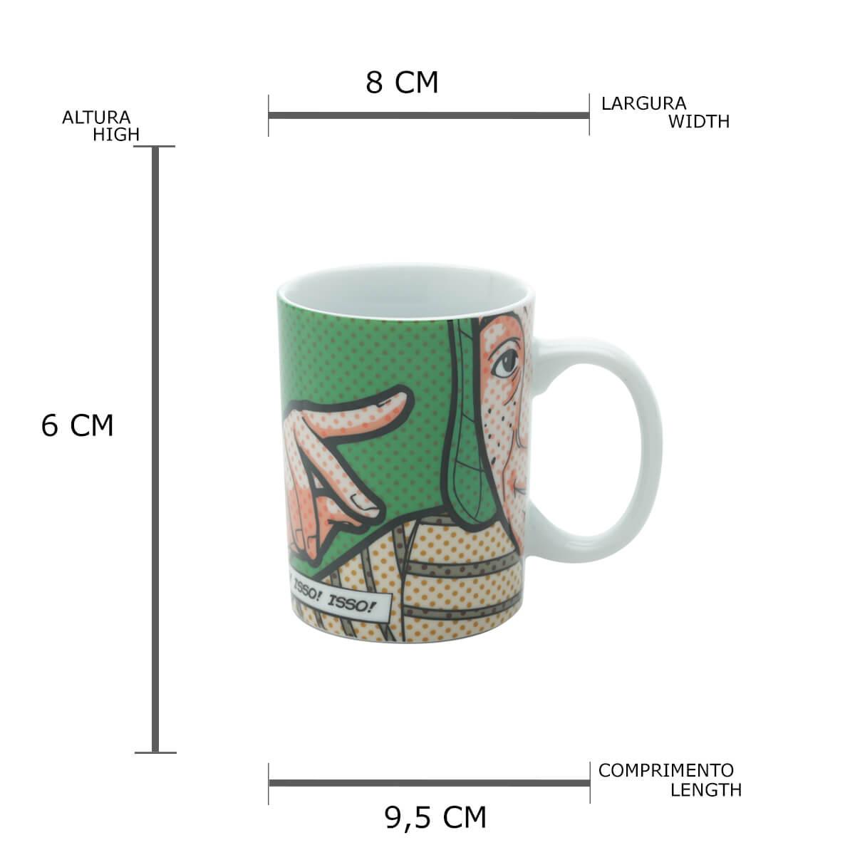 Mini Caneca de Porcelanada Chaves 135ml