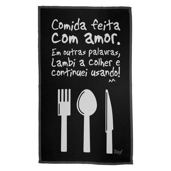 Pano de Prato Cozinho com Amor
