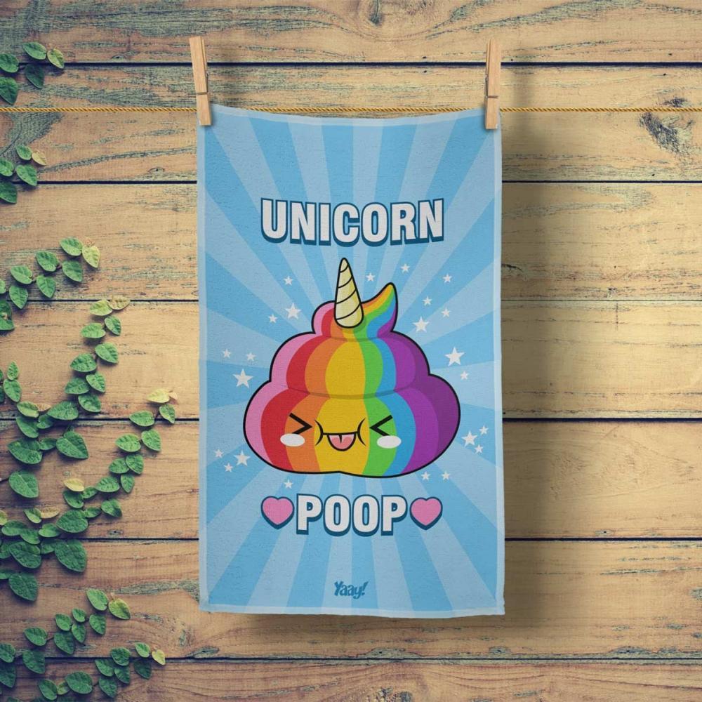 Pano de Prato Unicorn Poop