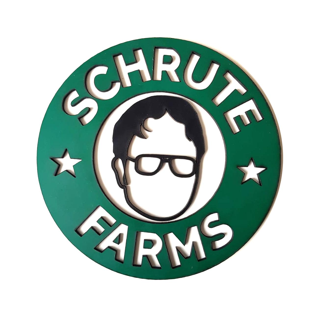 Placa Alto Relevo Schrute Farms Dwight