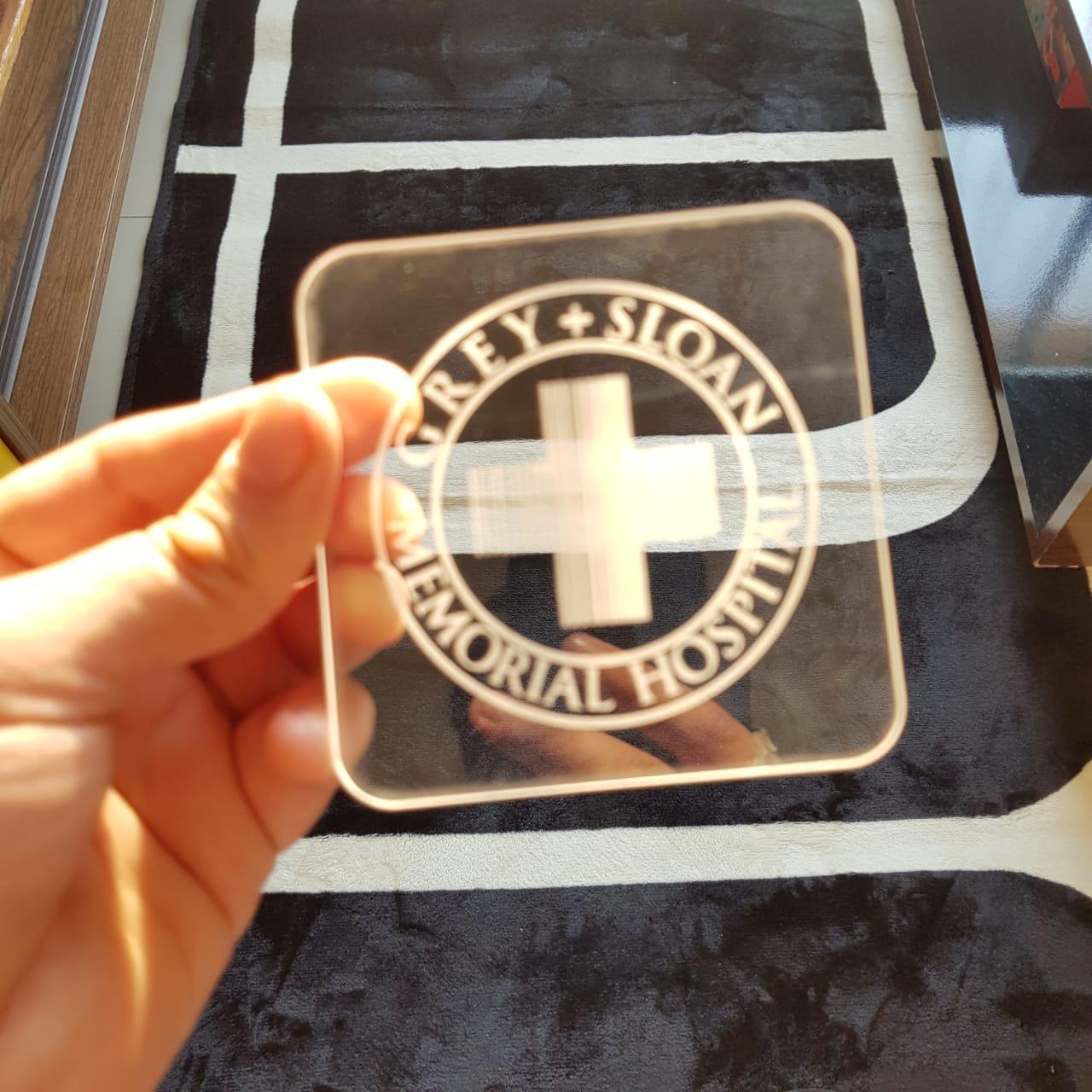 Porta Copos Kit 4 Pçs Greys em Acrílico