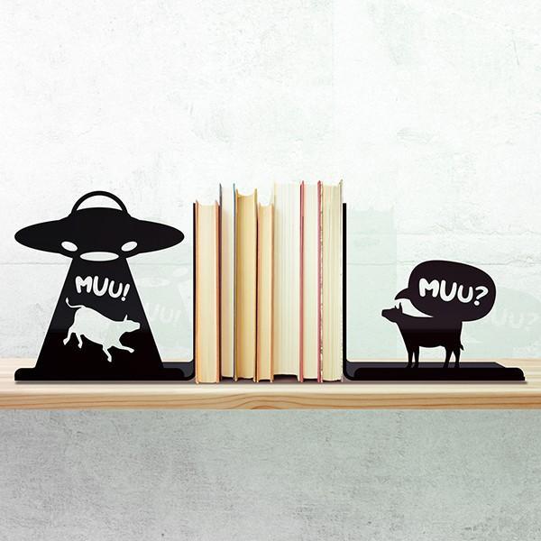 Porta Livros Abdução Vaca OVNI
