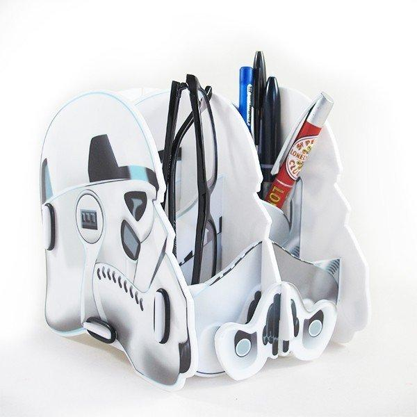 Porta Treco Objetos Star Wars Trooper Plastico Mesa