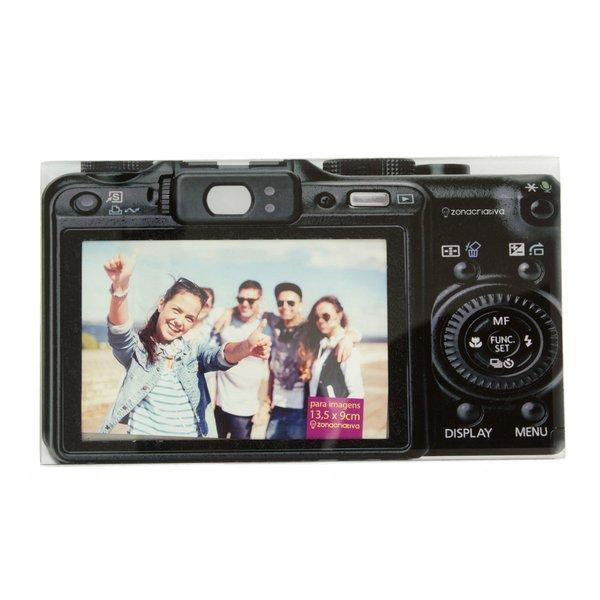 Porta Retrato Câmera Fotográfica Vidro 10x15 Presente