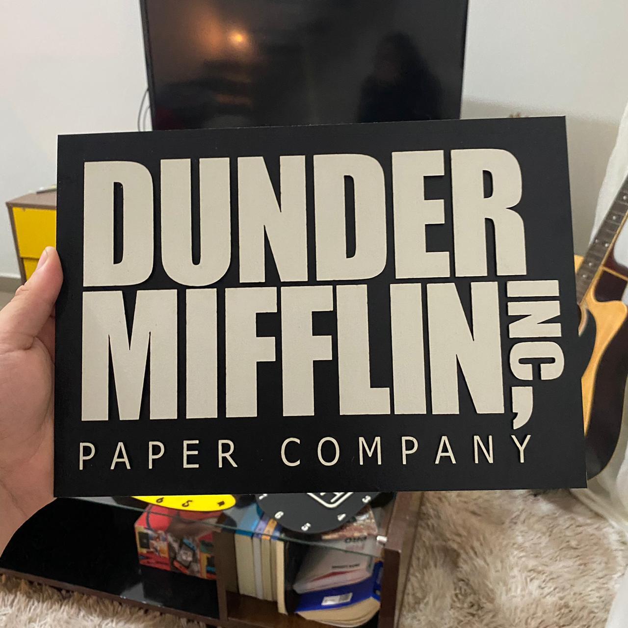 Quadro Alto Relevo Dunder Mifflin