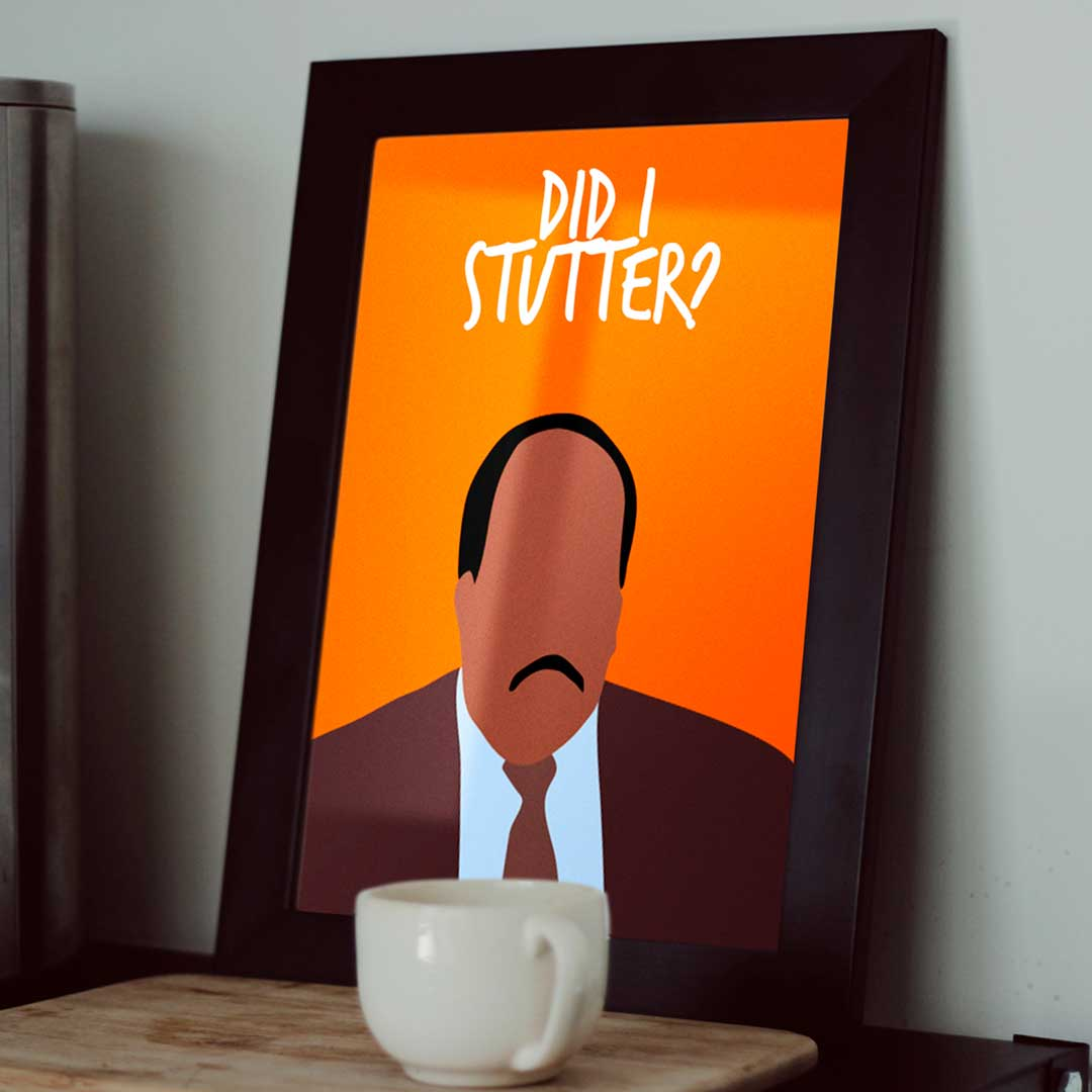 Quadro Did I Stutter Stanley The Office