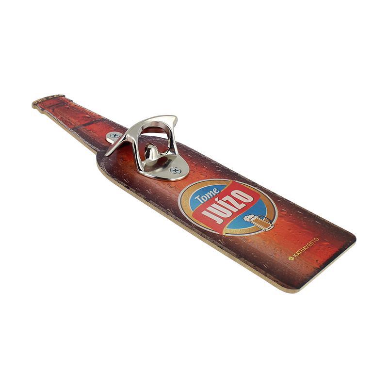 Quadro em formato de Cerveja com Abridor de Garrafa Tome Juízo