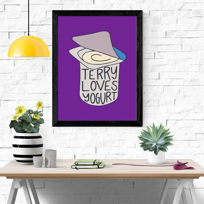 Quadro Terry Loves Yogurt