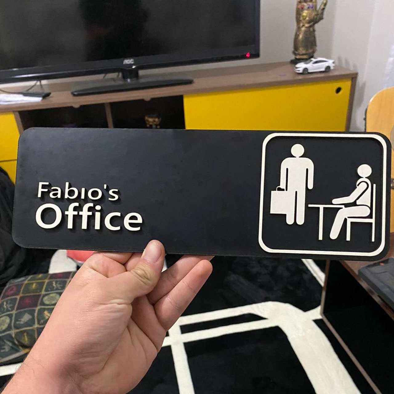 Quadro The Office Placa Alto Relevo Personalizado