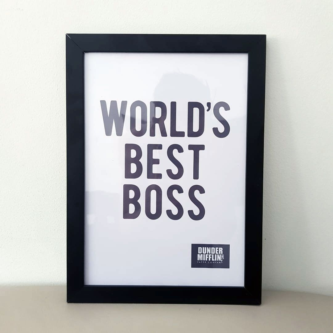 Quadro Worlds Best Boss The Office