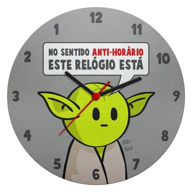 Relógio de Parede Ecológico Star Wars Mestre Yoda