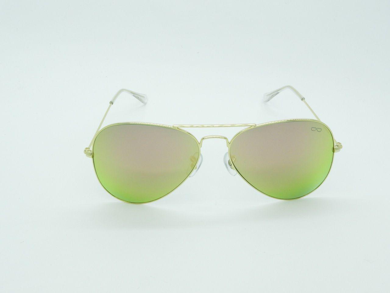 Óculos de Sol Feminino 3025 Rosa Espelhado 58