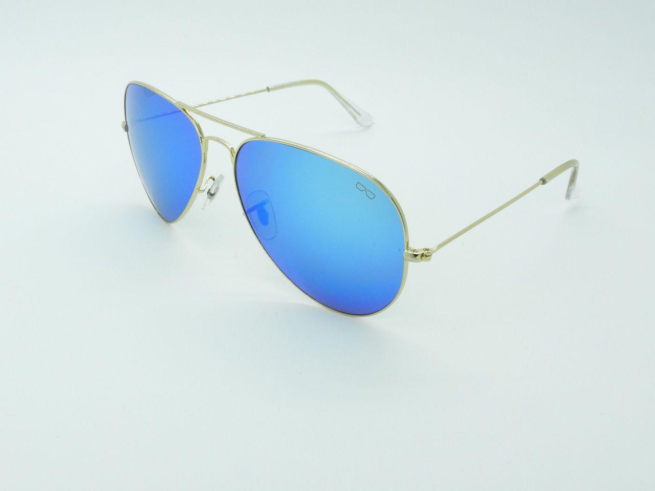 Óculos de Sol Unissex 3025 Azul Espelhado 62